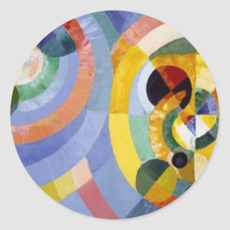 Circular Forms by Robert Delaunay Round Sticker