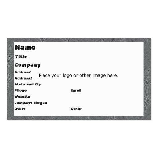Circular Gray Business Card Template