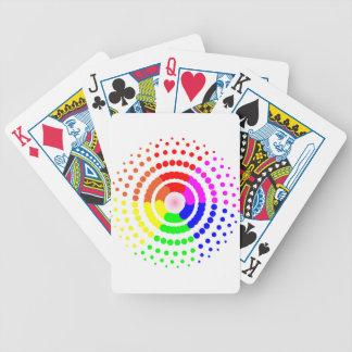 Circular LGBT Pattern Bicycle Playing Cards