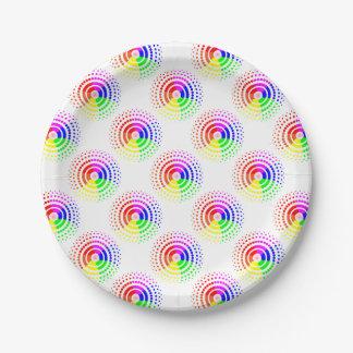 Circular LGBT Pattern Paper Plate