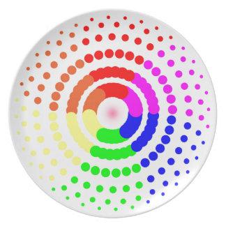 Circular LGBT Pattern Plate