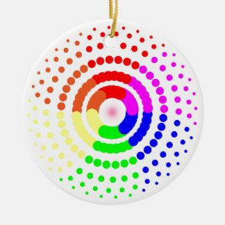 Circular LGBT Pattern Round Ceramic Decoration