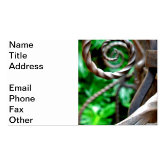 Circular Metal Business Card Templates