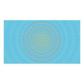 Circular Pattern blue yellow Business Cards