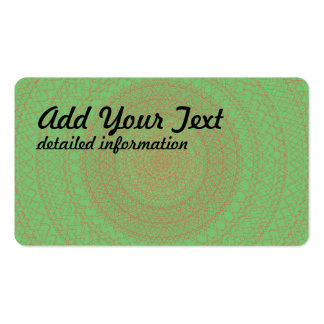 Circular Pattern Green Business Cards
