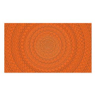 Circular Pattern Orange Purple Pack Of Standard Business Cards