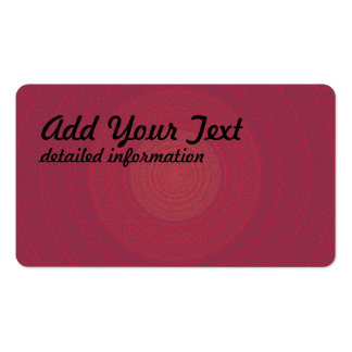 Circular Pattern Red Pack Of Standard Business Cards