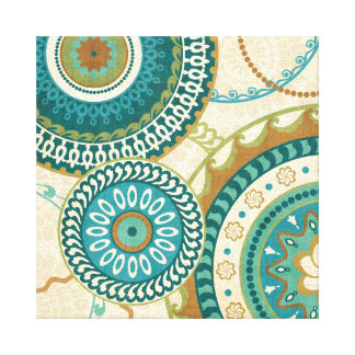 Circular Patterns Stretched Canvas Print