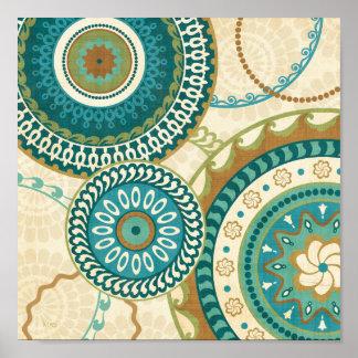 Circular Patterns Poster