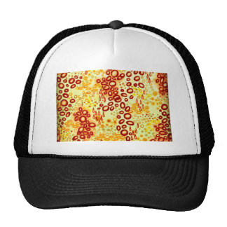 CIRCULAR PERSUASION 4 Orange Red Bubble Pattern Cap