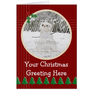 Circular Photo Christmas Card Templa...