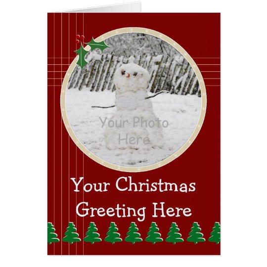 Circular Photo Christmas Card Templa