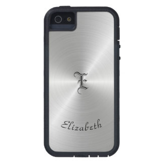 Circular Polished Metal Texture, Personalized Case For The iPhone 5