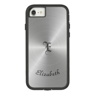 Circular Polished Metal Texture, Personalized Case-Mate Tough Extreme iPhone 8/7 Case