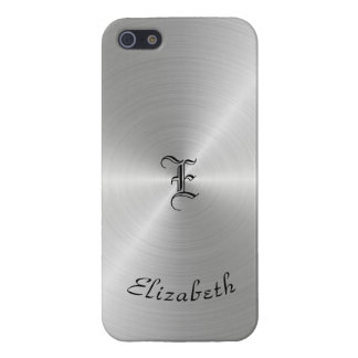 Circular Polished Metal Texture, Personalized iPhone 5/5S Cases