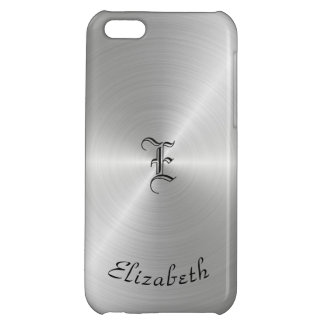 Circular Polished Metal Texture, Personalized iPhone 5C Case