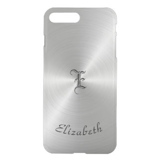 Circular Polished Metal Texture, Personalized iPhone 8 Plus/7 Plus Case