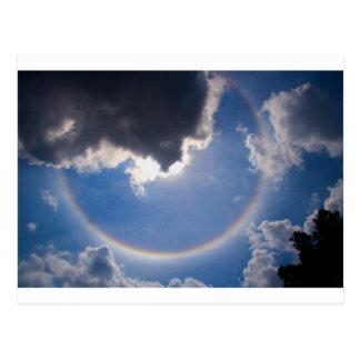 Circular Rainbow Postcard