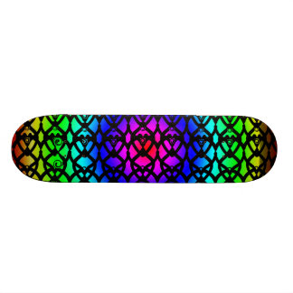Circular Rainbow Skateboard Deck Design