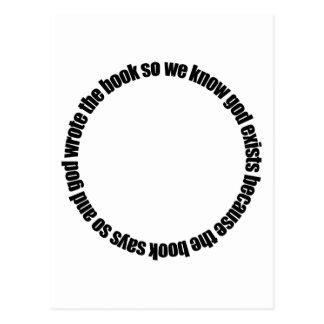 Circular Reasoning Postcard