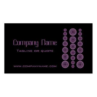 Circular Retro Business Card Black and Lavender