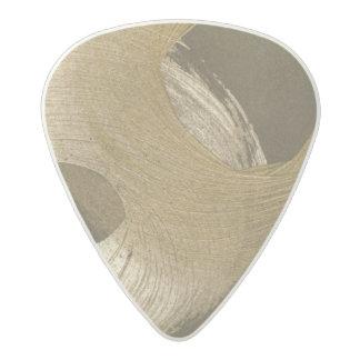 Circular Sandstorm in Tan and Dark Brown Acetal Guitar Pick