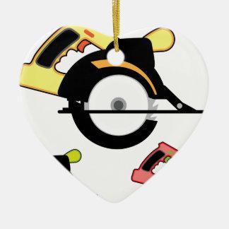 Circular saw isolated christmas ornament