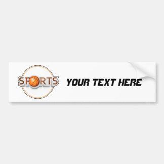 Circular SPORTS Logo with BASKETBALL Bumper Sticker