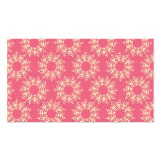circular star pattern magenta pack of standard business cards