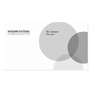 Circular Venn (deep purple) Pack Of Standard Business Cards