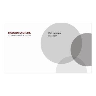 Circular Venn (Deep Red) Pack Of Standard Business Cards