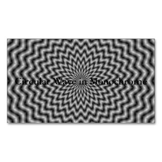 Circular Wave in Monochrome Magnetic Business Cards