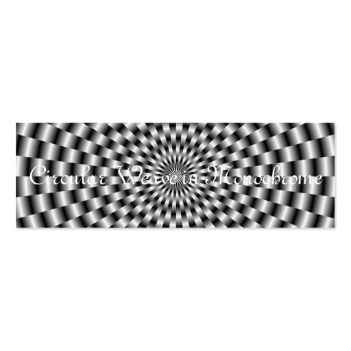 Circular Weave in Monochrome Card Business Cards