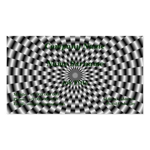Circular Weave in Monochrome Card Business Card