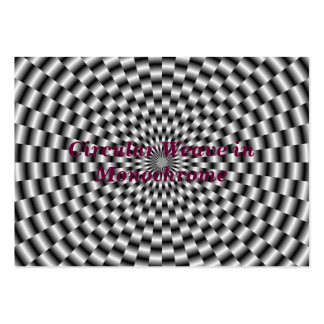 Circular Weave in Monochrome Card Pack Of Chubby Business Cards
