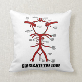 Circulate The Love (Circle Of Willis) Throw Pillow