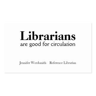 Circulation Pun Librarian Business Cards Customize