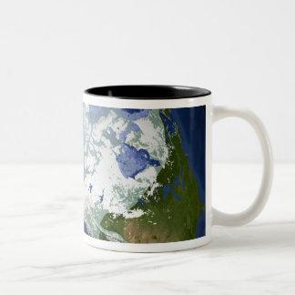Circum-Arctic permafrost Two-Tone Coffee Mug