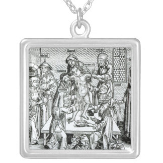 Circumcision, from 'Liber Chronicarum' Silver Plated Necklace