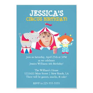 Circus 13 Cm X 18 Cm Invitation Card