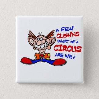 Circus 15 Cm Square Badge
