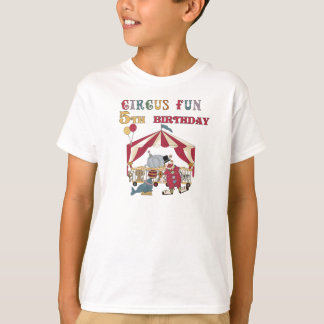 Circus 5th Birthday T-Shirt