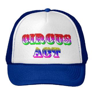 Circus Act Funny Cap Mesh Hats