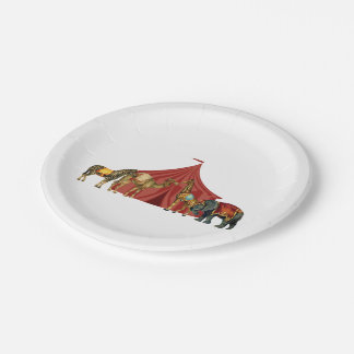 Circus Animals And Tent 7 Inch Paper Plate