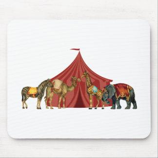 Circus Animals And Tent Mouse Mat