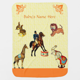 Circus Animals Baby Blankets
