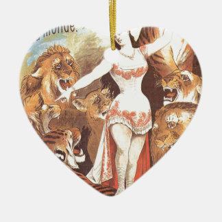 circus art ceramic heart decoration