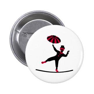 Circus artist clown 6 cm round badge