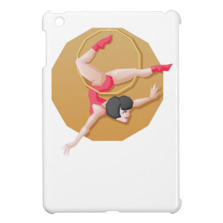 Circus artist young woman make show on aerial ring iPad mini cover