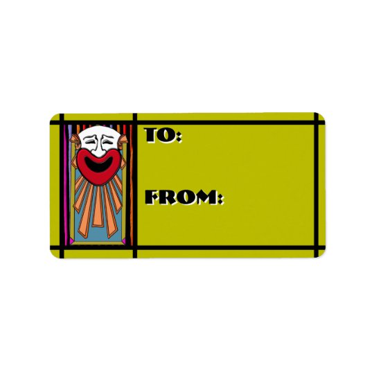 Circus Arts - Happy Clown (To-From Tags) Address Label